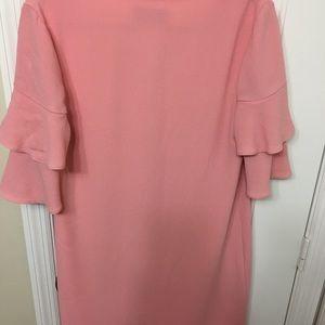 Charles Henry Pink Ruffle Dress